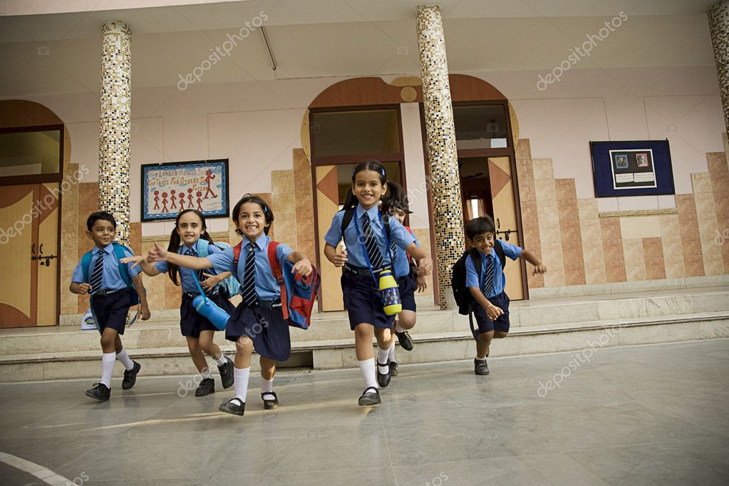 children running in school - photo #39