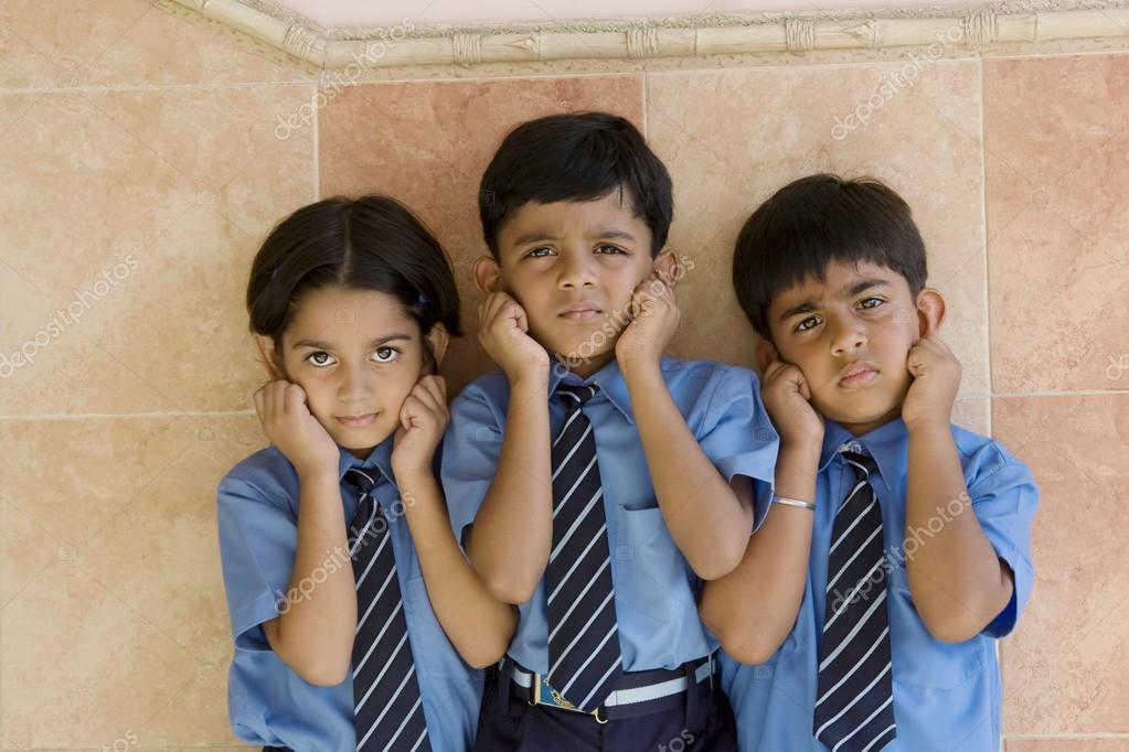 Punished school children