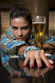 Photo Woman with beer glass