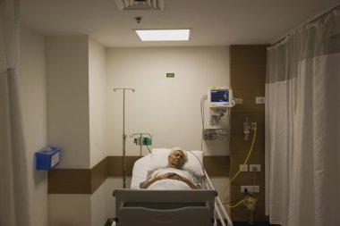 Patient resting in the hospital