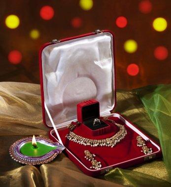 Jewelery set and diya