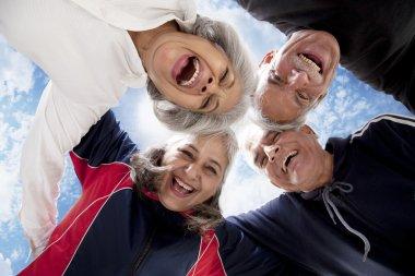 Portrait of old people enjoying