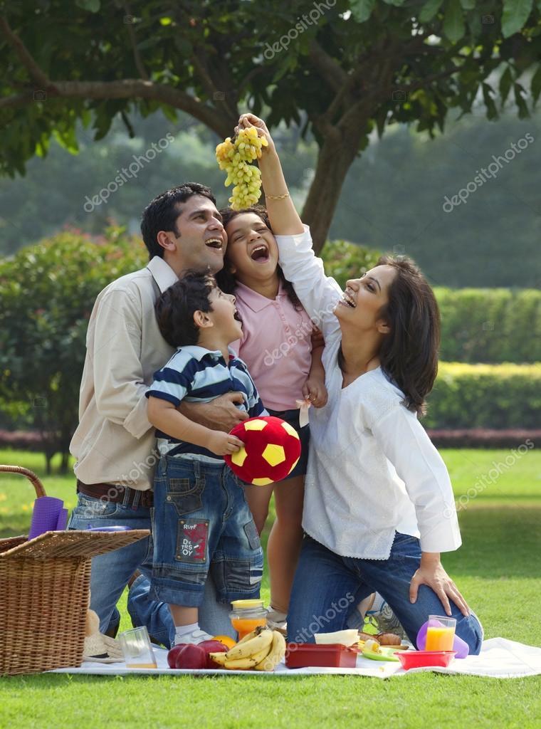 Family enjoying at a picnic