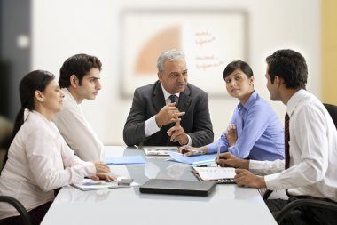 Businesspeople on a meeting