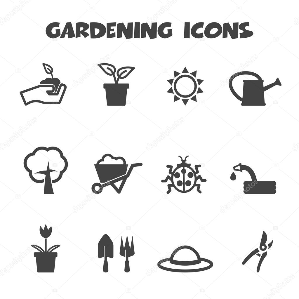 Iconos de jardiner a vector de stock 47397583 for Objetos de jardineria