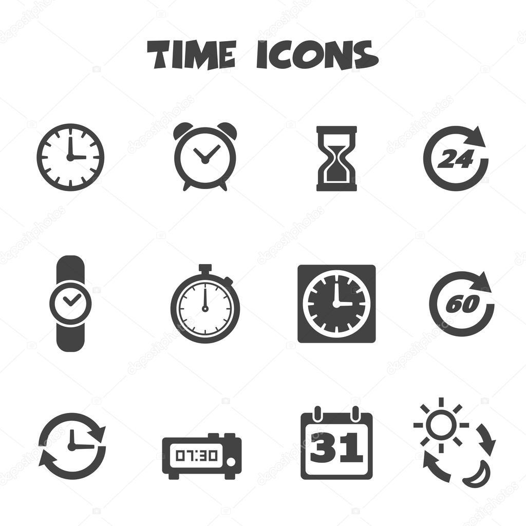 iconos de tiempo  u2014 vector de stock  u00a9 tulpahn  48510655