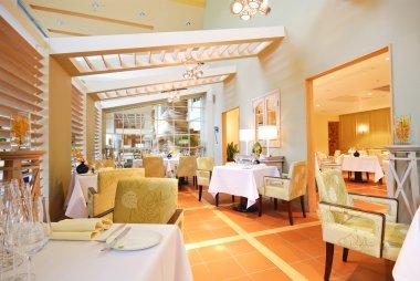 interior of modern restaurant in classic