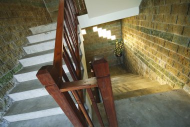 Vintage staircase in castle