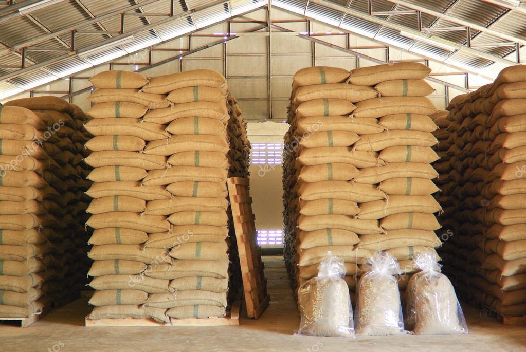 Coffee beans warehouse