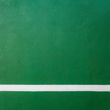 Paddle tennis green hard court texture with white line can used