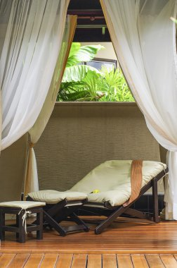 Relax bed in spa room
