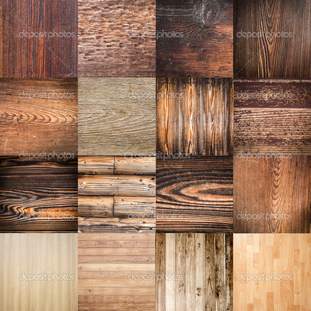 Collection wood grunge and wood planks texture and background.