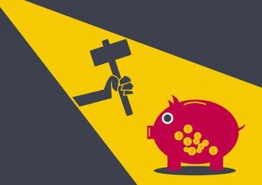 Robber coin bank conceptual