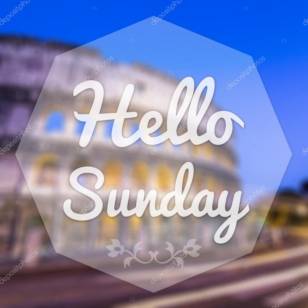 Verwischen Sie Guten Morgen Sonntag Auf Hintergrund