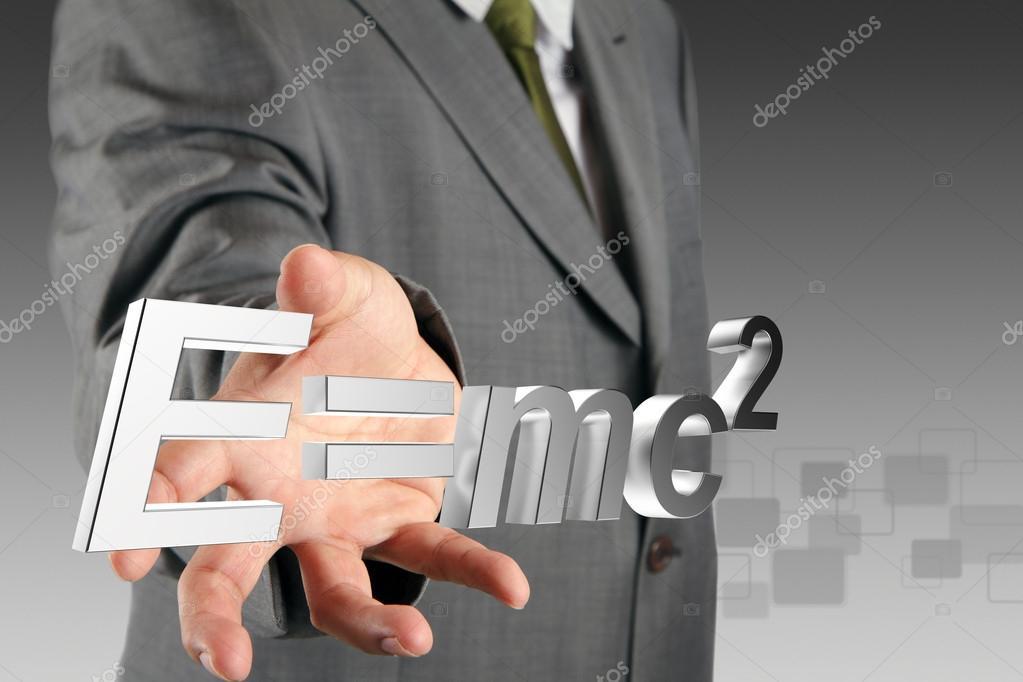 Hand shows E=mc2