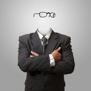 Invisible man concept