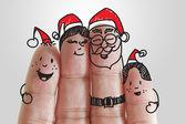 Fotografie Finger-Familie und Weihnachten