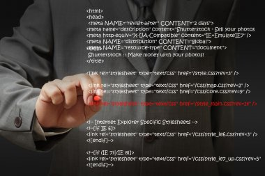 Businessman Highlighting Website Script