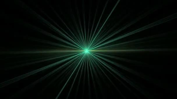 Green Star Shining on Black