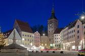 Fotografie Dorf von Landsberg am Lech bei Nacht