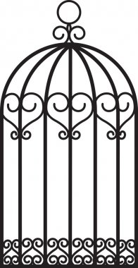 Antique empty bird cage stock vector