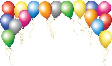 Holiday border of colourfull balloons