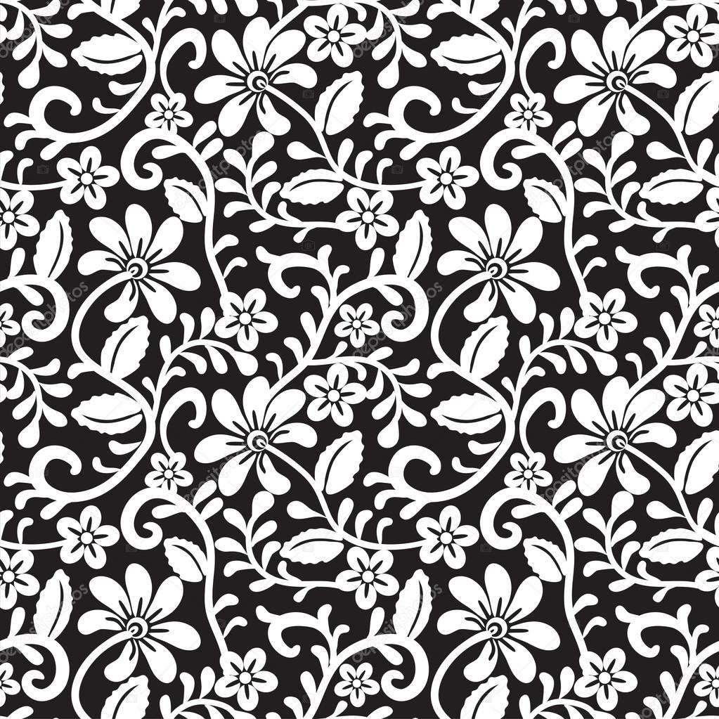 Black Flower Rose From Lace On White Background: ̊�톡 ˲�터 © Prikhnenko #18690529
