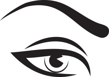 woman eye and brow