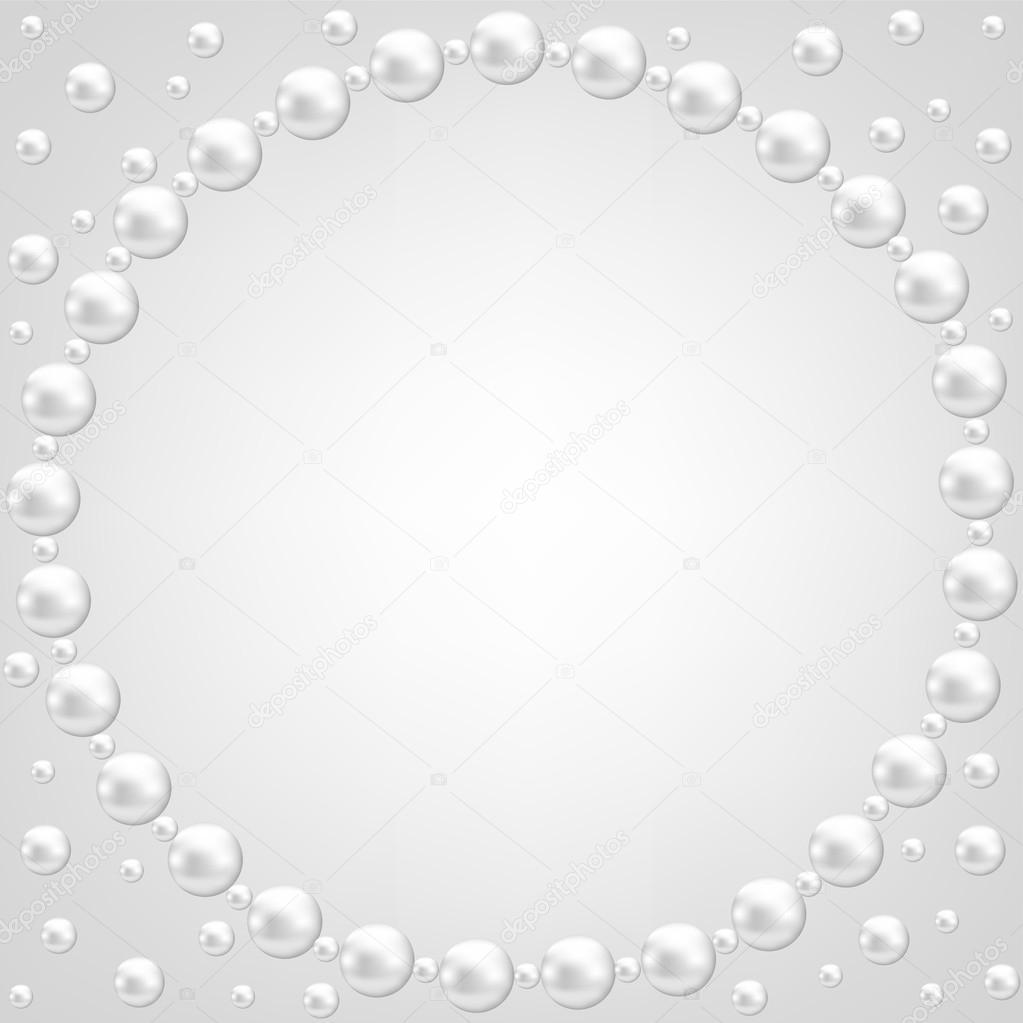 Spitze und pearl Rahmen — Stockvektor © Prikhnenko #31559663