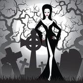 Fotografie Hexe am Friedhof