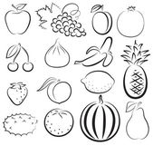 Fotografie sketch of different fruits