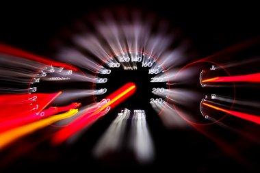 Car panel instrument speedometer and tachometer