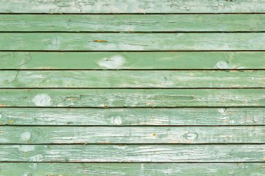 Old green painted wood wall - texture or background