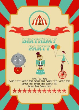 Circus Happy Birthday card