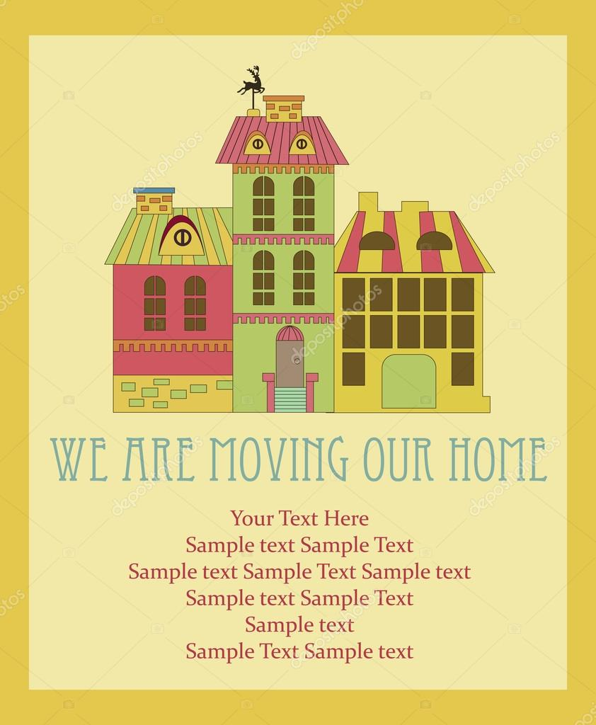We are moving card