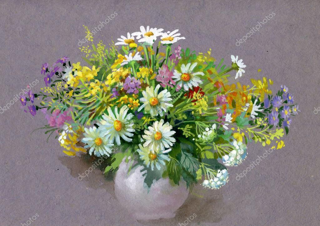 Букет квітів літо — Стокове фото — Грін © nadiastar  13659515 3103b9096d1ec