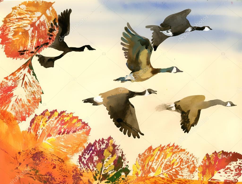 Сыном, птицы улетают на юг картинки для детей в детском саду