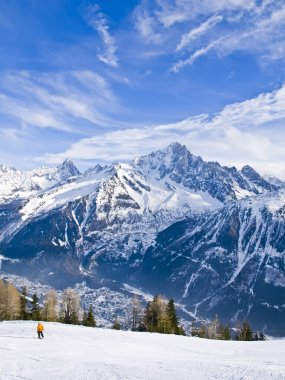 Skiing at French Alps