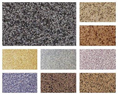Variation of colorful carpet