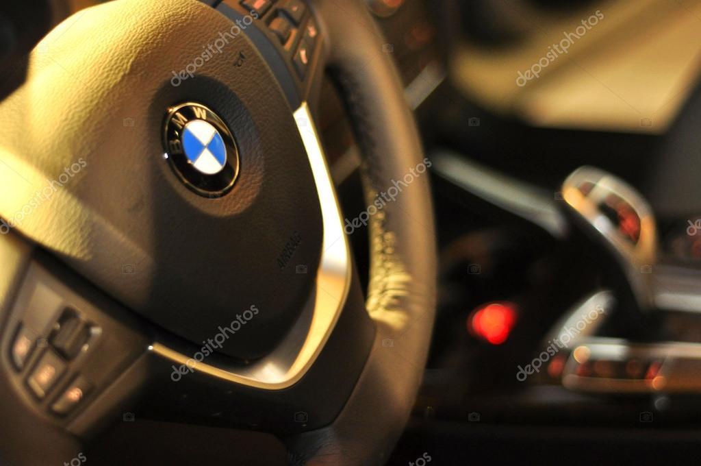 Interior of BMW car