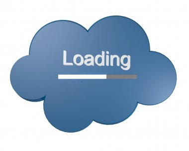Cloud icon with Loading text
