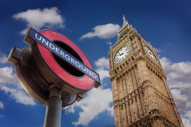 The Underground And Big Ben, London