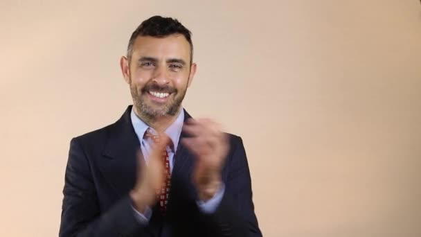 Business man clapping hands