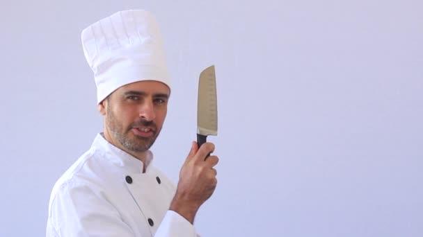 Verrückter Koch mit Messer
