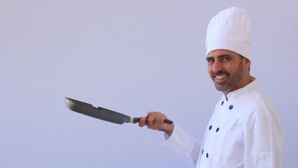 šéfkuchař s pan