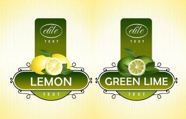 Citrus fruits. Lemon, green lime
