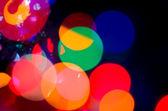 Vánoční pozadí abstraktní. vánoční věnec světla