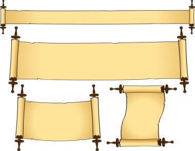 Set of vintage scrolls