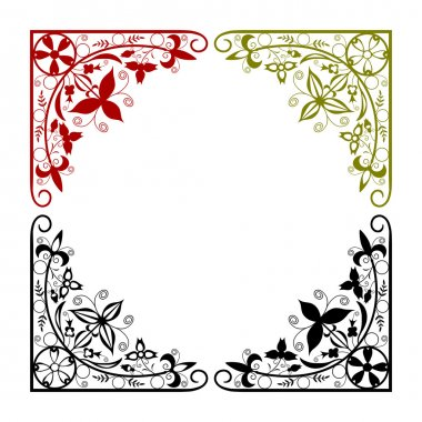 Arabesque corner in a circle on a white background. Easy to put in any of the compositions. stock vector