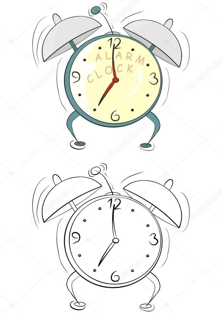 despertador de dibujos animados — Vector de stock © norsob #40228879